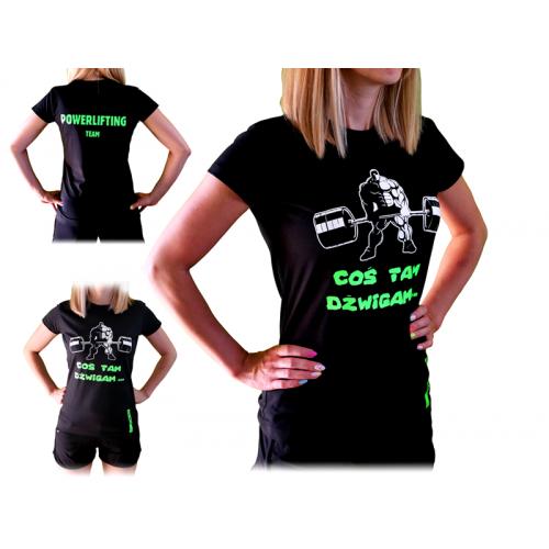 T-shirt Damski Coś tam dźwigam SMPOWER Powerlifting