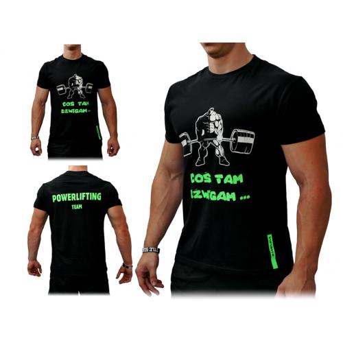 T-Shirt Męski Coś Tam Dźwigam SMPOWER Powerlifting
