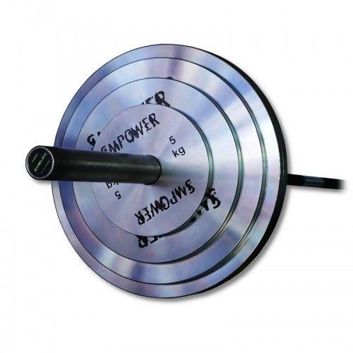 Zestaw obciążeń Stalowych SMPOWER FLAT 150 kg ZRS01