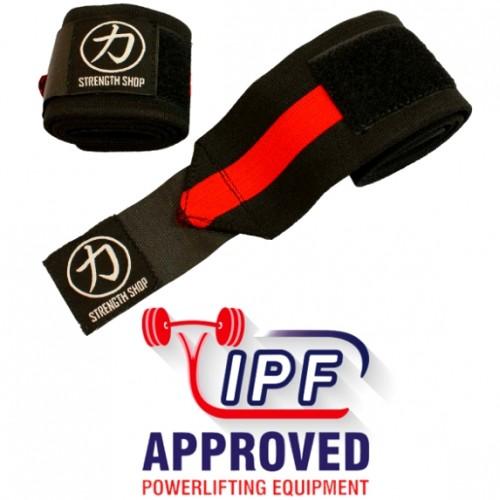 Owijki Na Nadgarstki Strengthshop IPF Black/Red 80cm