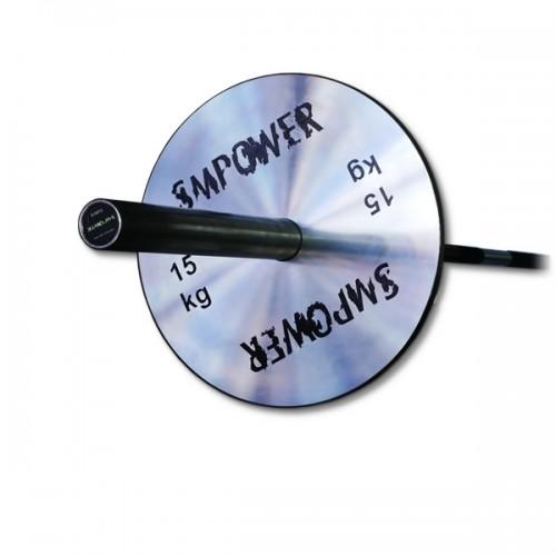 Obciążenie Olimpijskie 15kg, Talerz Stalowy Ocynk FLAT