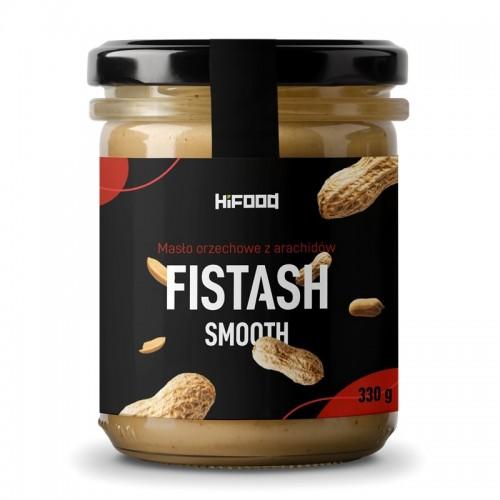 Masło orzechowe z arachidów 100% FISTASH SMOOTH 330 g HiFOOD