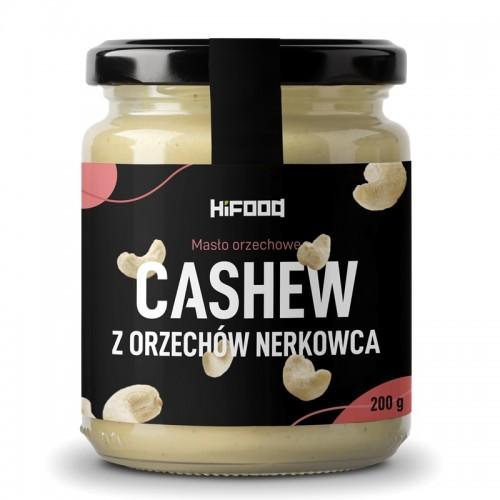 Masło orzechowe CASHEW z orzechów nerkowca naturalne 200 g HiFOOD