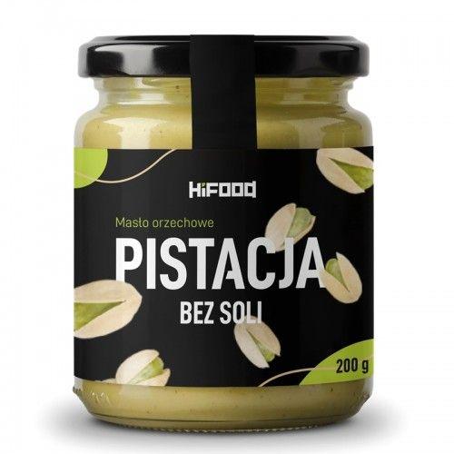 Masło orzechowe PISTACJA bez soli 100% naturalne 200 g HiFOOD