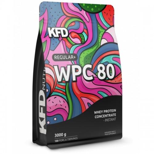 Białko KFD WPC 80 PREMIUM 3000 g, 100 porcji, smaki do wyboru