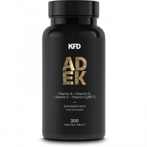 Witamina A D E K2 MK7 KFD ADEK 200 Tabletek