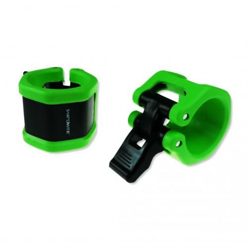 Zaciski na sztangę olimpijską 50mm TPR Ultra Mocne Green