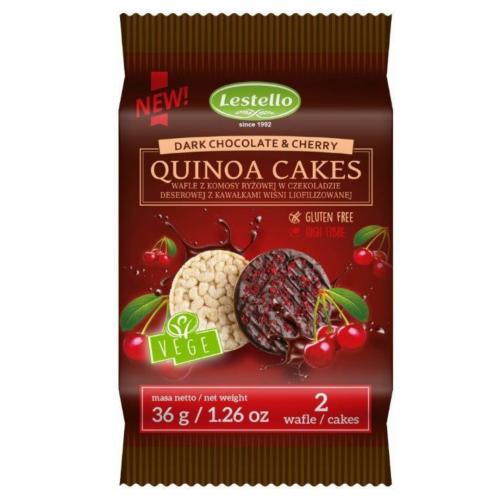 Wafle z KOMOSY RYŻOWEJ w czekoladzie z wiśnią 36g - NOWOŚĆ