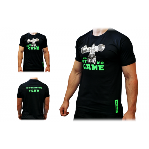 T-Shirt Męski No Lift No Game SMPOWER Powerlifting
