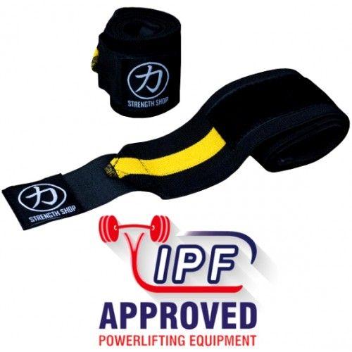 Owijki Na Nadgarstki Strengthshop IPF Black/Yellow 80cm