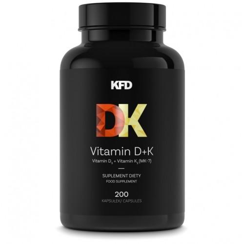 Witamina D D3+K2 mk7 natto KFD Vitamin 200 tabletek