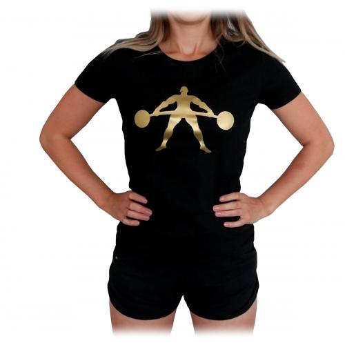 T-Shirt Damski na Trening Siłownię Gold Exclusive