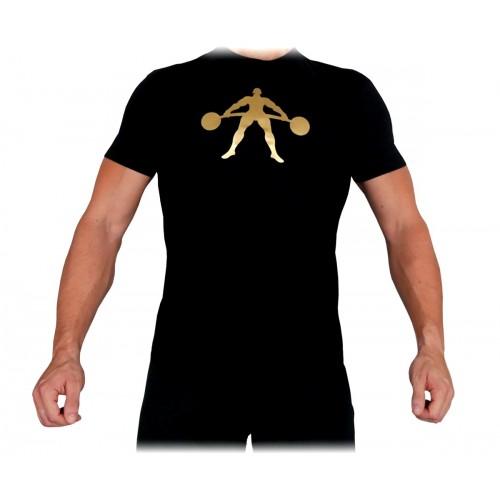 T-Shirt Męski Na Trening Siłownię Gold Exclusive