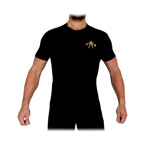 T-Shirt Męski Na Trening Siłownię Gold Classic