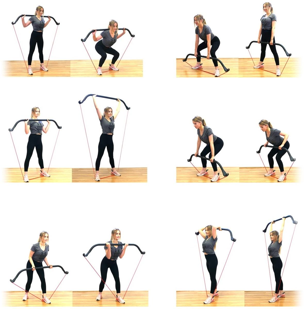 cwiczenia z gumami lukiem fbw bow
